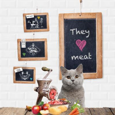 Cats love meat