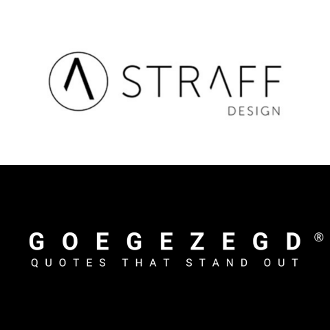 Design Label 'STRAFF Design' & Giftlabel Merk 'GOEGEZEGD Ⓡ'