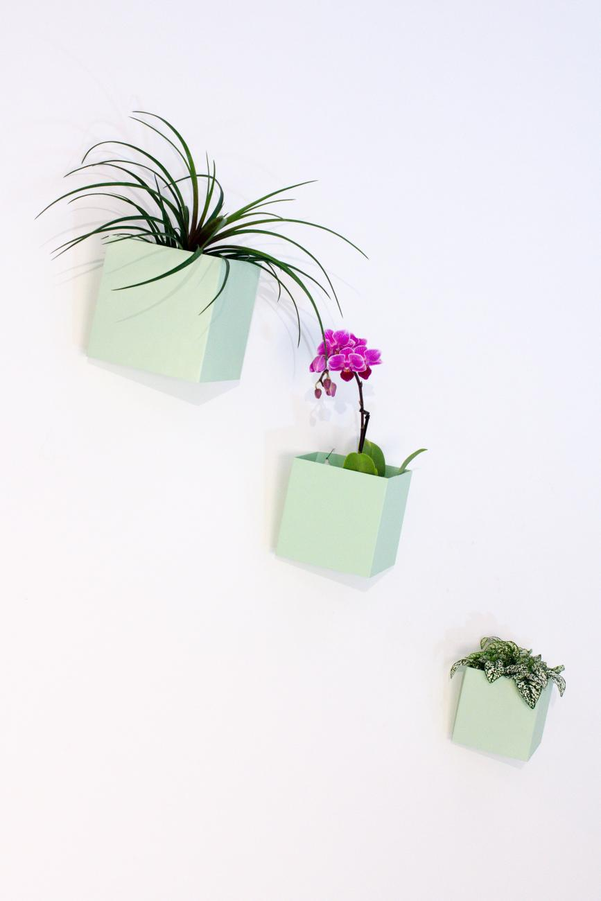 Little Keeper - wallcubes muntgroen by STRAFF Design